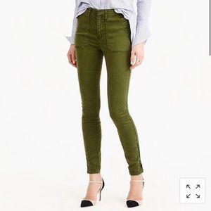 J CREW Army Green Skinny Cargo Pants Jeans